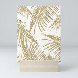 Gold Palm Leaves Dream #1 #tropical #decor #art #society6 Mini Art Print