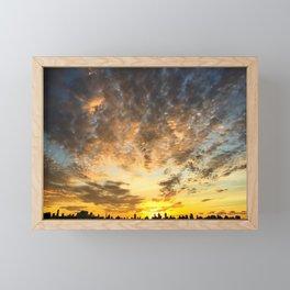 Sunset over Manhattan Framed Mini Art Print