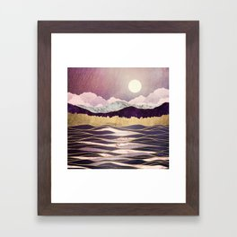 Lunar Waves Framed Art Print