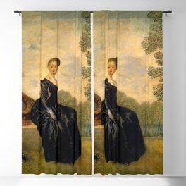 """Antoine Watteau """"La Boudeuse (The Capricious Girl)"""" Blackout Curtain"""