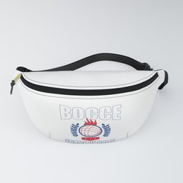 Bocce Ball Player Gift The Game of Balls and Inches Fanny Pack