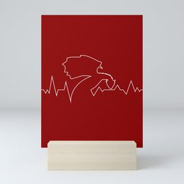 Fantasy Art Dragon In Heartbeat Dragons Design In Red Mini Art Print