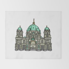 Berlin Cathedral Throw Blanket