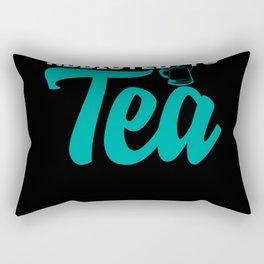 Addichted To Tea Saying Pun Joke Coffee Drink Rectangular Pillow