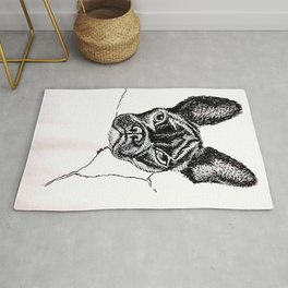 bourbon by CATNEYDOGNEY 2/28/2020 French bulldog frenchie face Rug