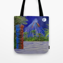 Tiki Art Background Tote Bag