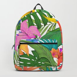 Tropical Colorful Palm Garden Backpack