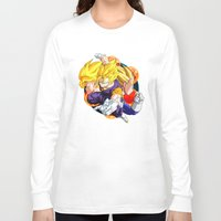 dbz Long Sleeve T-shirts featuring DBZ - Goku, Vegeta and Vegeto by Mr. Stonebanks