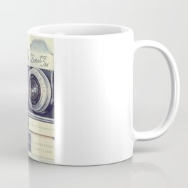 Film Camera and Pink Telephone (Retro and Vintage Still Life Photography) Coffee Mug