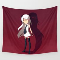 shadow Wall Tapestries featuring Shadow by Freeminds