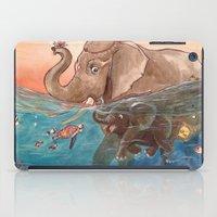 elephants iPad Cases featuring Elephants by Paloma  Galzi