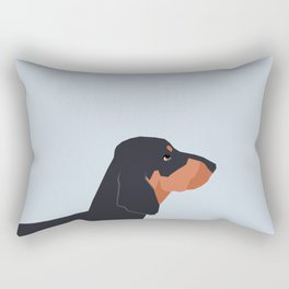 Dakota - Dachshund phone case fun and bright for pet lovers and gift for dog people Rectangular Pillow