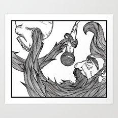The beard Art Print