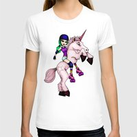 roller derby T-shirts featuring Roller Derby Unicorn by RonkyTonk