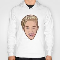 miley Hoodies featuring Miley Cyrus by Michael Walchalk