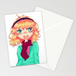 Manga girl Stationery Cards