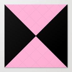 Elegant Geometric Pink & Black Design Canvas Print