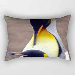 Male and Female King Penguins Rectangular Pillow