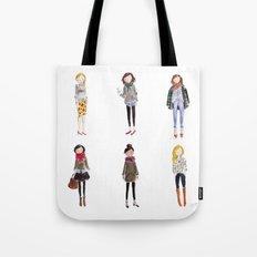 Fall Girls Tote Bag