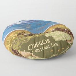 Vintage poster - The Oregon Trail Floor Pillow