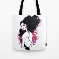 madrid Tote Bags featuring Madrid by Leilani Joy