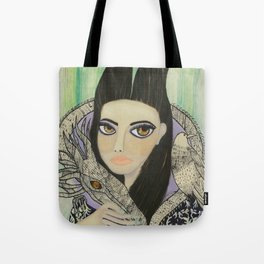 Maleficent, Portrait of a Wicked Young Woman Tote Bag