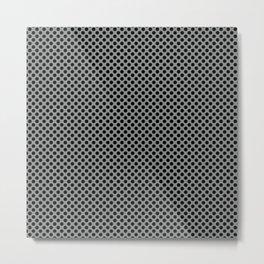 Neutral Gray and Black Polka Dots Metal Print