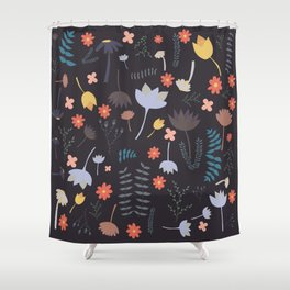 Flowers and Florals Pattern No 1 Shower Curtain