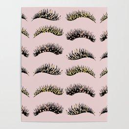 Blush pink - glam lash design Poster
