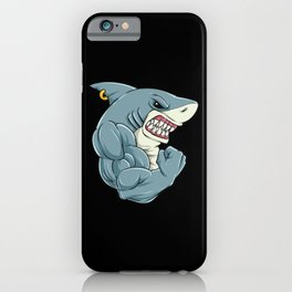 Shark At The Gym | Fitness Training Muscles iPhone Case