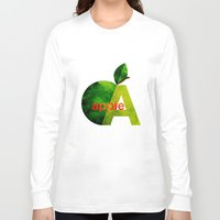 apple Long Sleeve T-shirts featuring apple by John Beswick