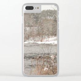 Madawaska in Winter Clear iPhone Case