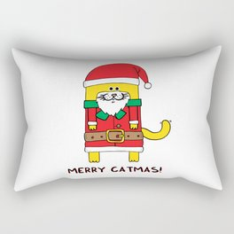 Merry Catmas Rectangular Pillow