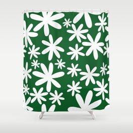 Tiare Flower Green Shower Curtain