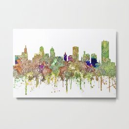 Buffalo, New York Skyline SG - Faded Glory Metal Print
