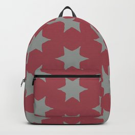Scarlet and Grey Stars Backpack