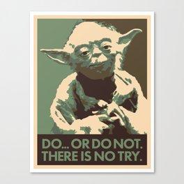 Yoda For President Canvas Print