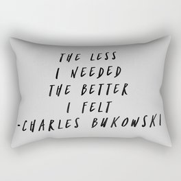 Charles Bukowski Quote Art Rectangular Pillow