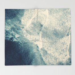 Ice Blue Surf Throw Blanket