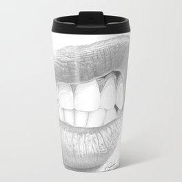 Rabbia / Rage - Aggressive Lips - Mouth Travel Mug