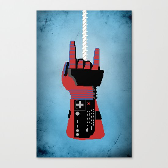 Power Glove Love: Spider-Man Canvas Print