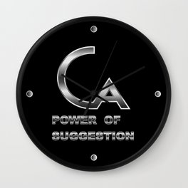 POWER OF SUGGESTION Wall Clock