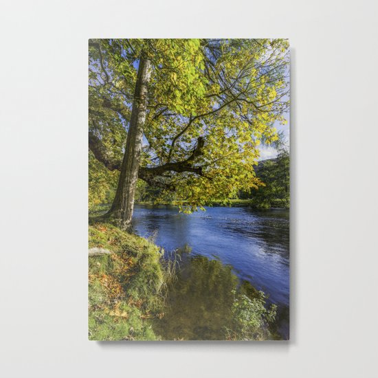 Autumn By The River Metal Print
