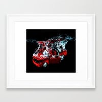 mustang Framed Art Prints featuring Mustang by Conor O'Mara