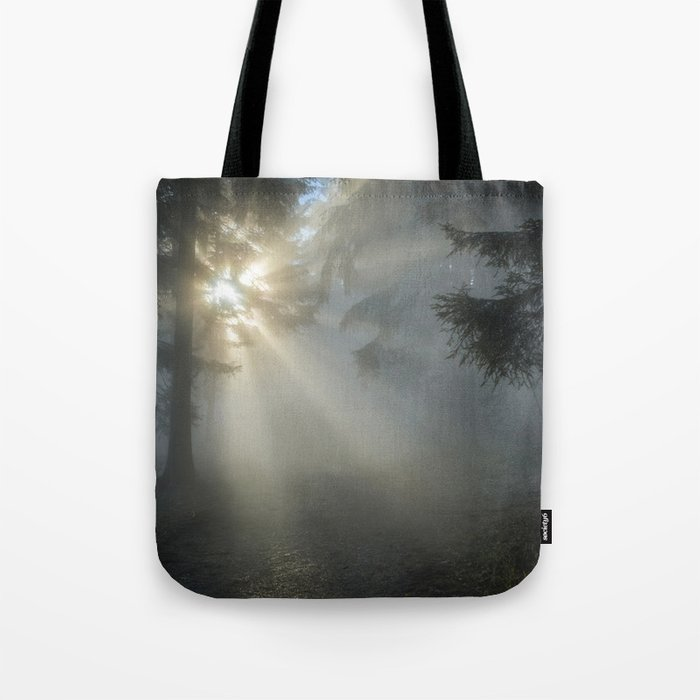 Winter Sunrise in the Forest Tote Bag