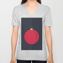 Christmas Globe - Illustration Unisex V-Neck