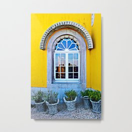 Window at the Pena Palace #2, Sintra, Portugal Metal Print
