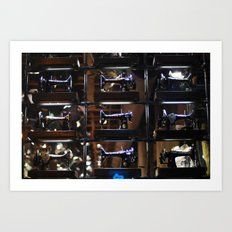 sewing machines  Art Print
