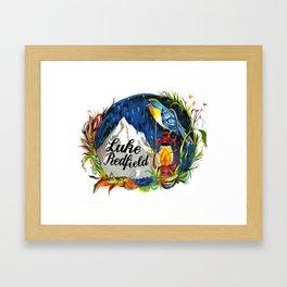 Luke Redfield Bird Mountain Print Framed Art Print