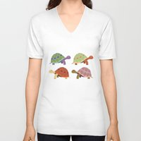 turtles V-neck T-shirts featuring Turtles by TypicalArtGuy